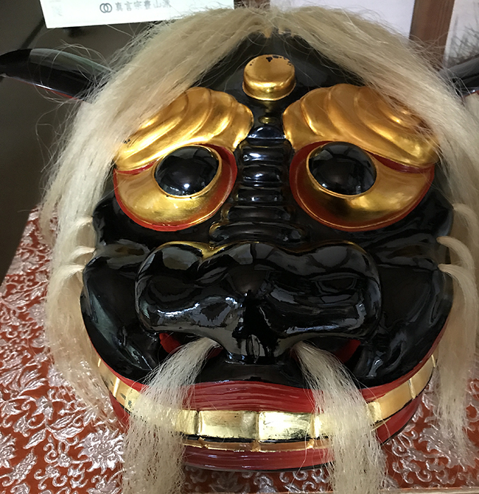 飯豊町萩生の恩徳寺石現文殊の獅子頭