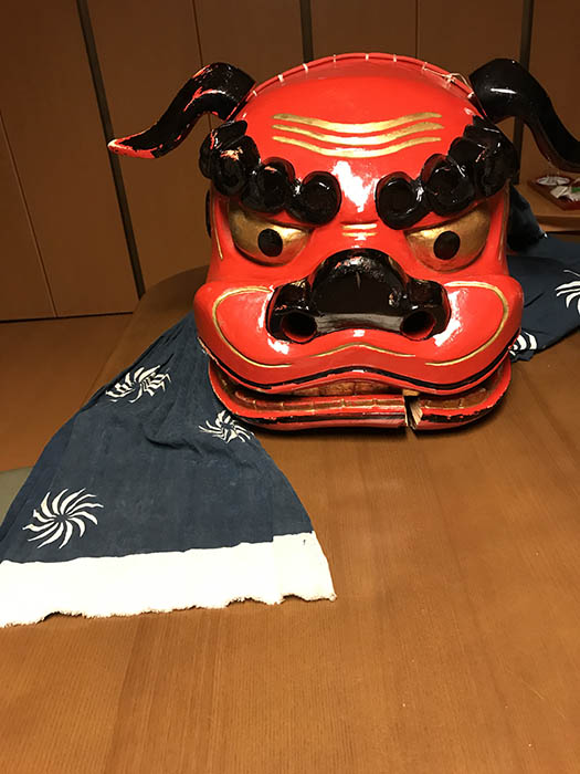熊野神社の獅子頭