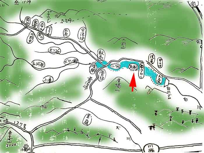 白川ダムに沈んだ矢渕村の獅子舞