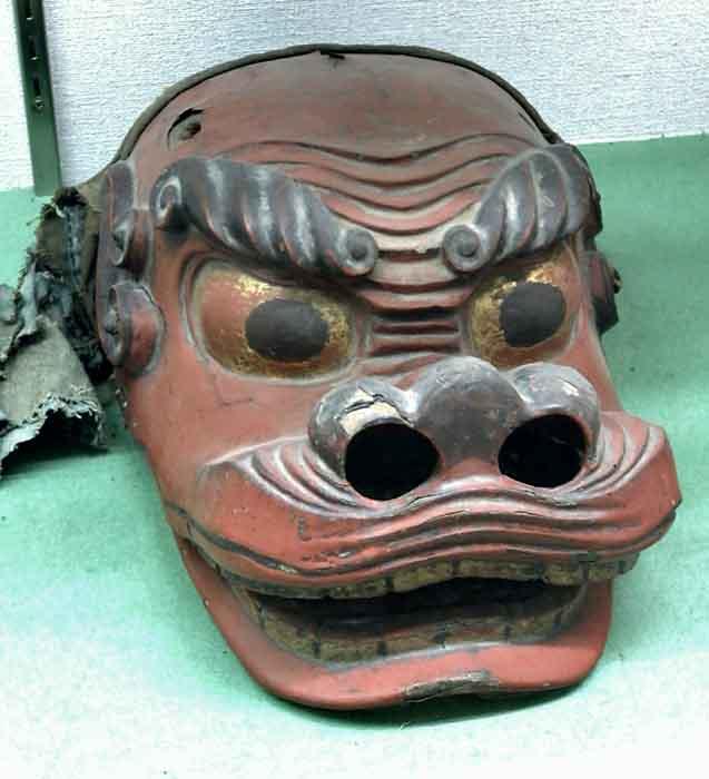 福島県喜多方の新宮熊野神社の獅子