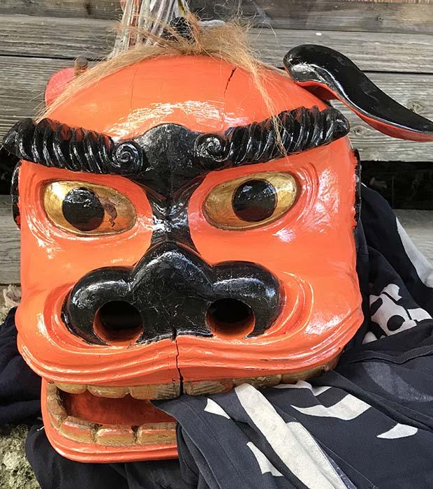 高畠町夏茂の夏刈熊野神社の獅子