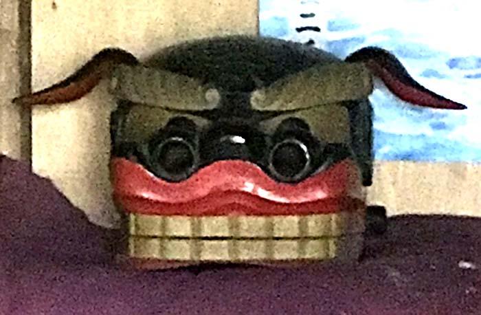 六郷長橋の荷渡神社の獅子頭