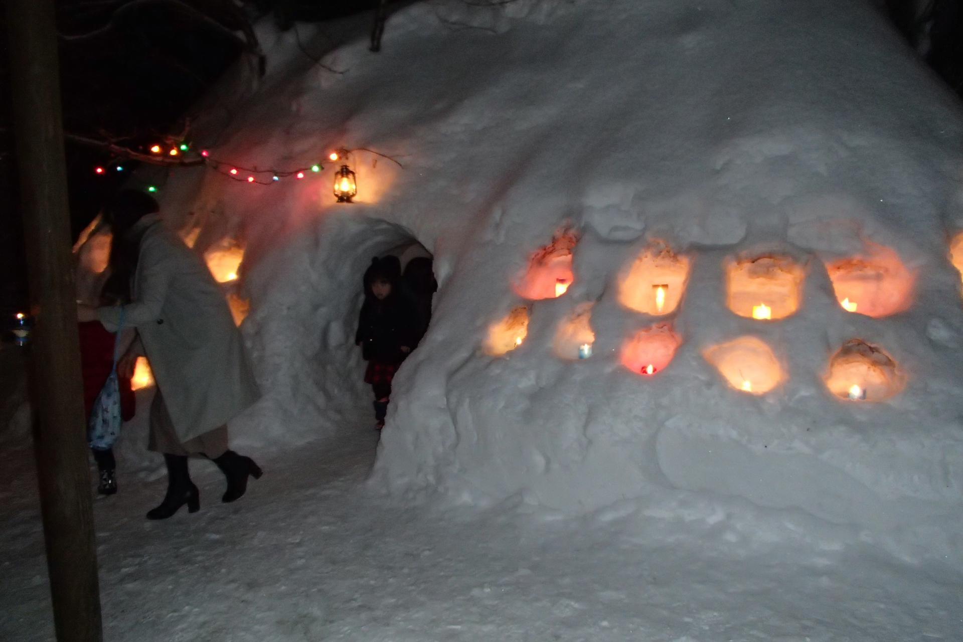 雪あかりに包まれて・・・