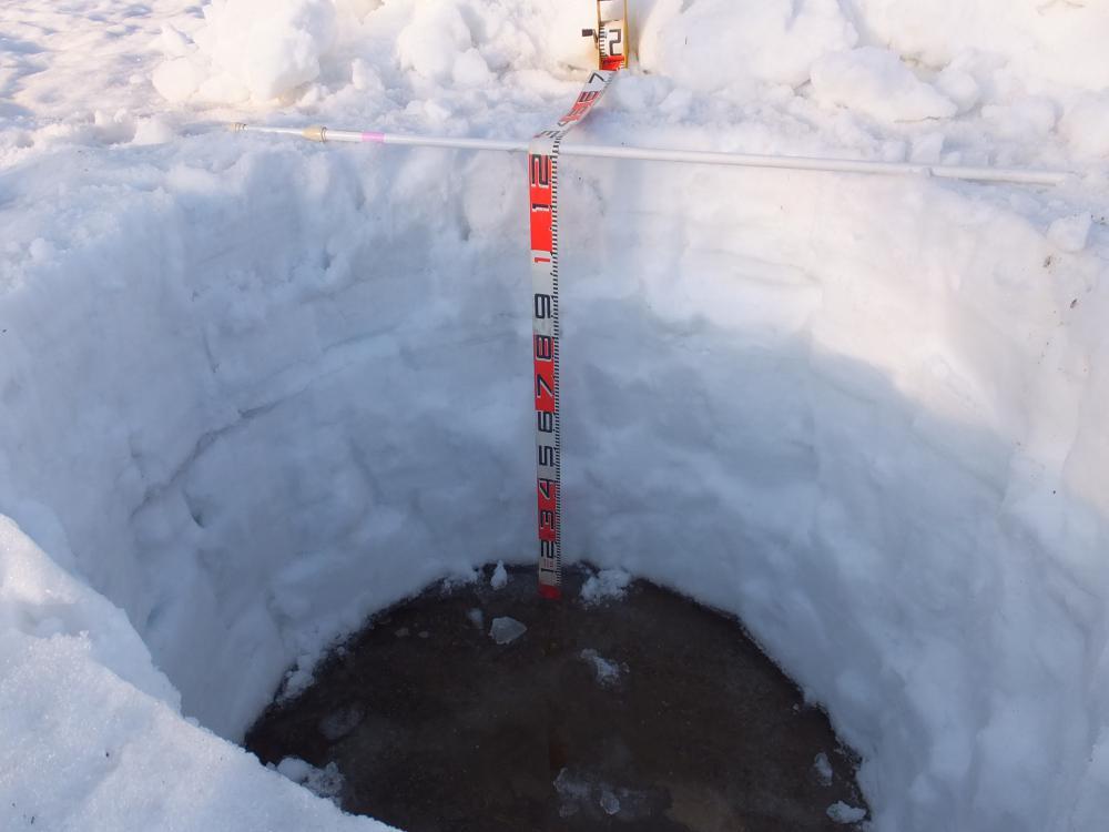 白川湖パークゴルフ場 ただ今の積雪量情報