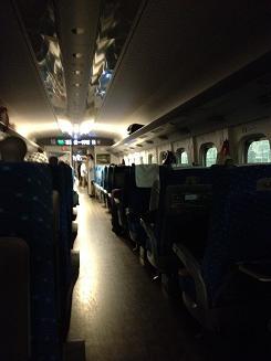 新幹線車内は、一時送電もストップ!!