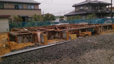 名取市W様邸 基礎立ち上がり打設