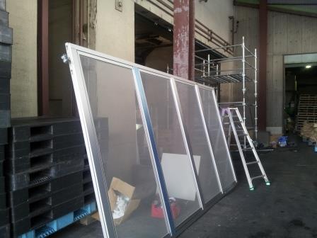 2014/03/13 07:25/超大型網戸の設置