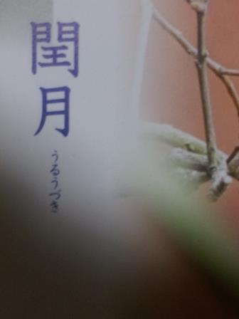 2014/11/17 07:18/閏月