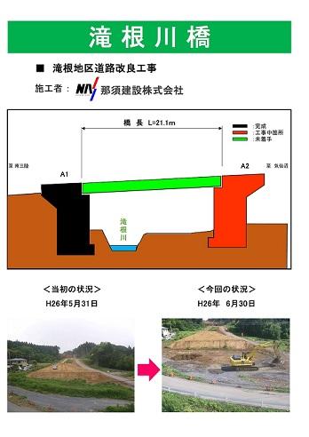 滝根地区道路改良工事(気仙沼市)