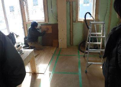 【郡山市新屋敷・ドミノI邸 】 腰板と和紙の選定:画像