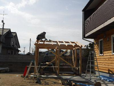 【郡山市新屋敷・ドミノI邸 】 小屋の上棟:画像