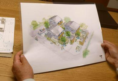 『庭と畑と木の家~開成四丁目分譲プロジェクト~』 イメージ通りのパース