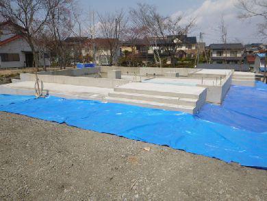 【郡山市富久山・ドミノA邸 】 建て方作業に備えて、基礎廻り整頓:画像