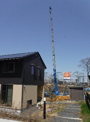 【郡山市富久山・ドミノA邸 】 建方スタート:画像