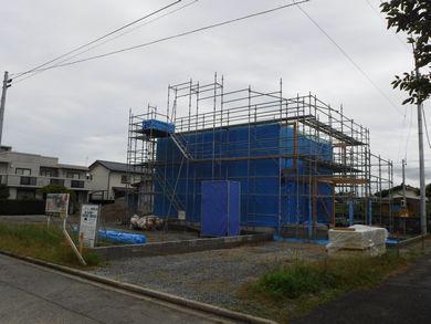 【郡山市開成・ドミノS邸】恒例の青一色の現場:画像