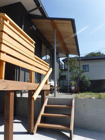 【郡山市台新・Sさん宅の改造 /Yu工房】デッキと軒下:画像
