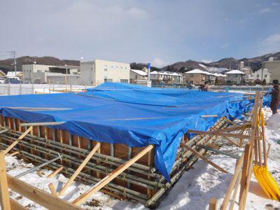 【福島市渡利・I邸/伊礼智設計室】 冬場の基礎工事、細心の注意:画像