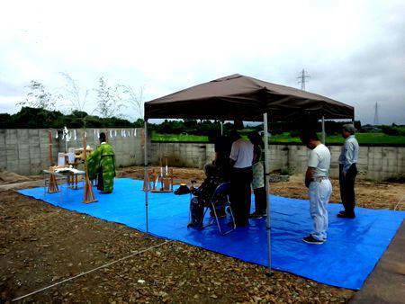 【福島市桜本・ドミノS邸】四世代集まっての地鎮祭:画像