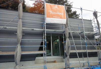 「田村市常葉町・シンプルノートI邸」 外壁が仕上がってきました♪:画像