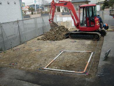 【福島市・店舗N】 砕石パイルで地盤改良:画像
