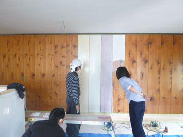 【郡山市桑野・Yさん店舗改修】 試行錯誤の塗装:画像