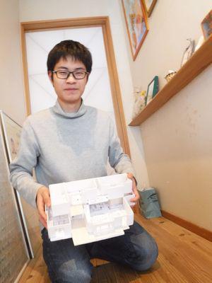 【白河Hさん宅】 息子さん、職場体験で自宅の模型づくり