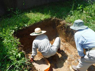 【郡山市安積町・ドミノS邸】住宅地で発掘調査:画像