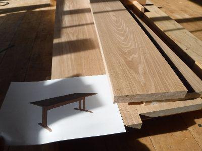 【郡山市開成・ドミノS邸】 ダイニングテーブル製作に向けて(2):画像