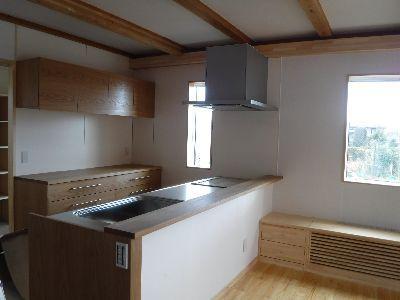 【郡山市開成・ドミノS邸】 ついに、木製流し台設置:画像