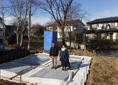 【郡山市富久山・ドミノY邸 】 工事が始まり、現場で記念撮影:画像