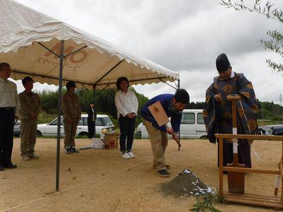 【郡山市西田・ドミノT邸 】 粘り強く土地探し、ようやく地鎮祭:画像