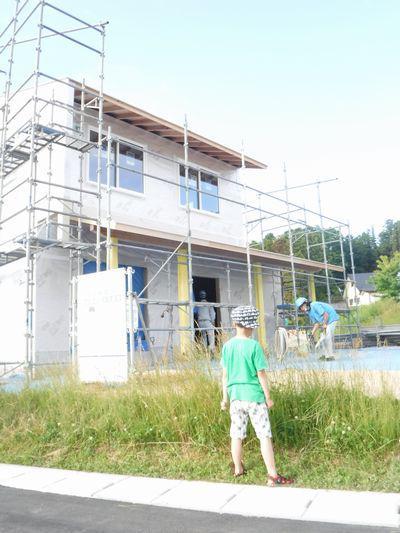 【郡山市西田・ドミノT邸 】 壁で遮熱工事、屋根で煙突工事:画像