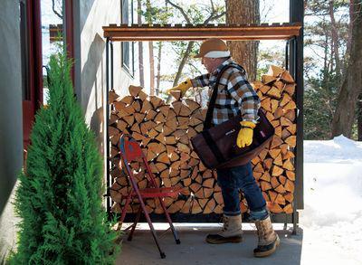 【ワークショップ 】 「薪棚づくり」郡山市西田・ドミノT邸
