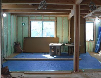 【郡山市久留米・ドミノK邸 】 しっかり施工 気密シートと配線スペース:画像
