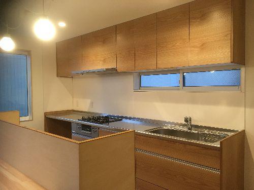 【郡山市久留米・ドミノK邸 】 続いて、造作キッチン登場!:画像