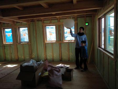 【郡山市田村町・ドミノS邸 】 照明器具の位置ひとつ一つを確認:画像