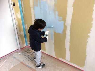 「鏡石町東町・シンプルノートH邸」 塗装DIY、子供たち大活躍!:画像
