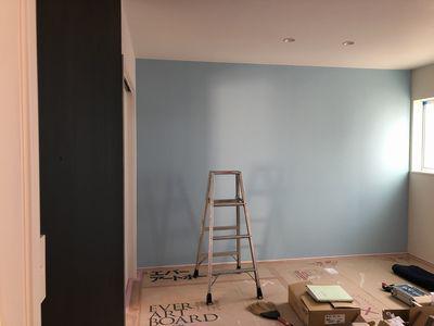 「鏡石町東町・シンプルノートH邸」 DIYで黒板塗料、ぬりぬり:画像