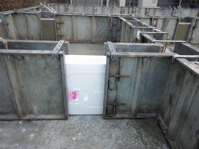 「郡山市開成4丁目・シンプルノート」 基礎の現場で目立つ、白い物:画像