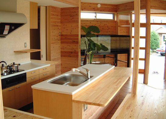 土間とキッチン