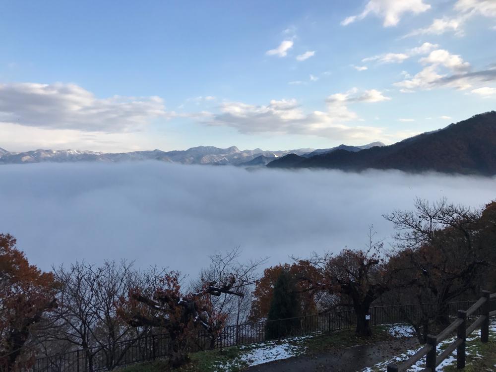 舞鶴山に雲海が現れました:画像
