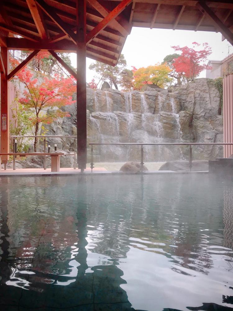 紅葉露天風呂をお楽しみ頂けます♪:画像