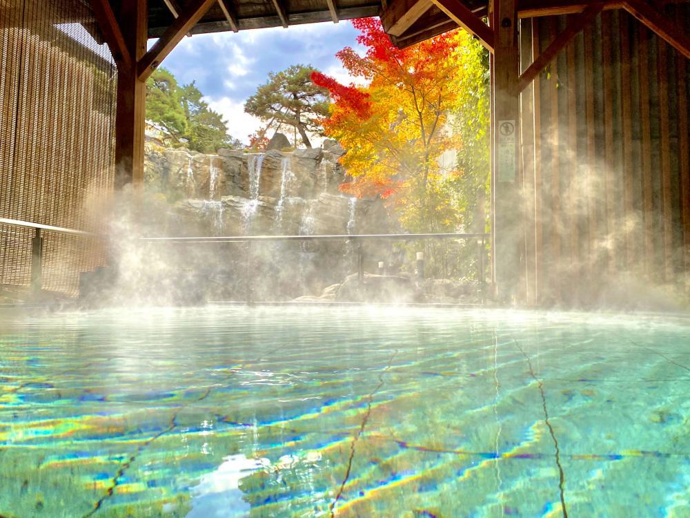 秋の露天風呂!:画像