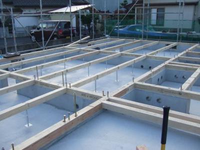 多賀城市T様邸建て方開始:画像