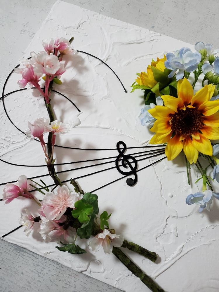 花×漆喰のコラボ