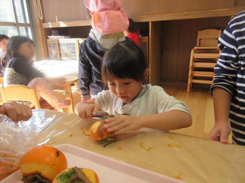11月5日 干し柿作り