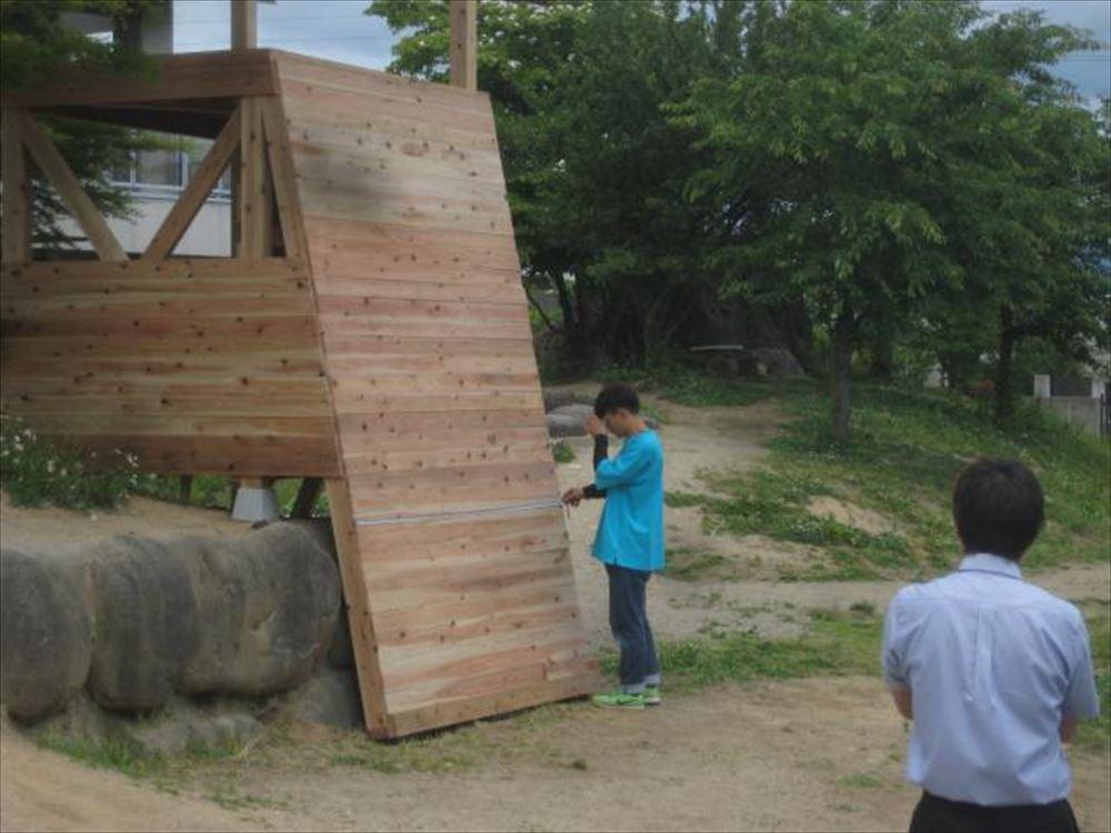 園庭プロジェクト ~ボルダリング~