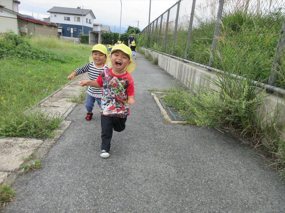 「秋の自然を見つけたよ」もも組2歳児