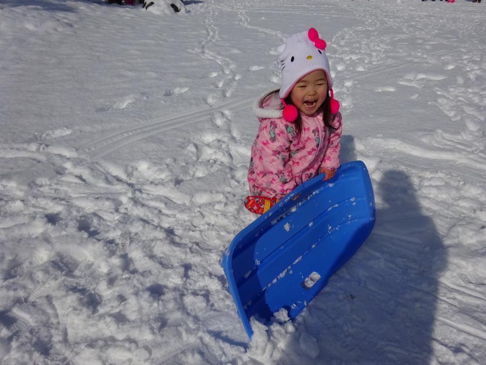 初めての雪遊び♪