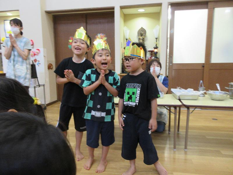 8月生まれの誕生会